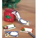 100 étiquettes de Noël avec distributeur