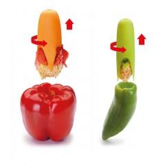 2 évideurs à poivron