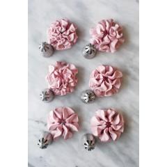 6 douilles inox fleur