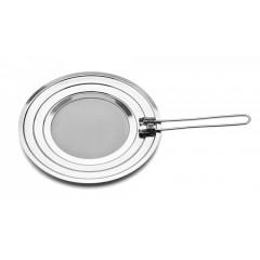 Couvercle inox multi diamètre anti éclaboussures