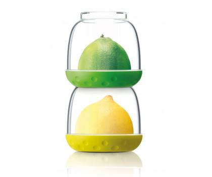 2 conservateurs à fruits agrumes