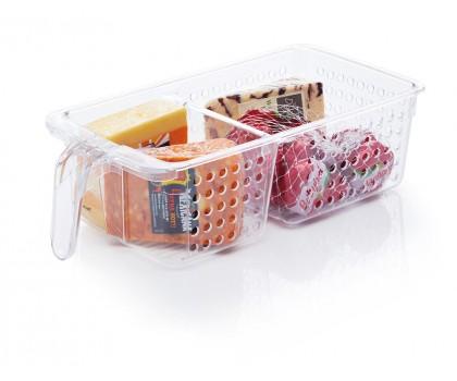 Panier de rangement réfrigérateur 2 compartiments