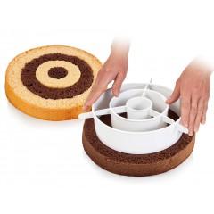 Gâteau damier ou arc en ciel