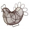 Poule panier à œufs