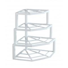 Range-assiettes d'angle 4 niveaux