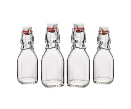 4 mini bouteilles à vinaigrette