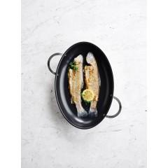 Poêle à poisson inox 38 cm
