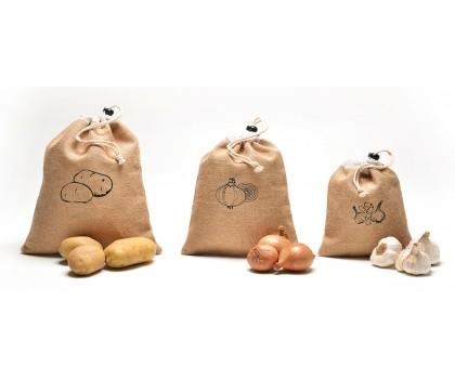 3 sacs ail oignons et pommes de terre