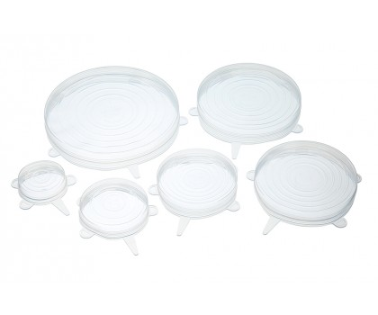 6 couvercles silicone étirables