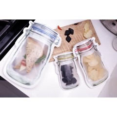 9 poches de conservation pot en verre