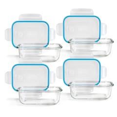 4 boîtes de conservation en verre