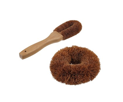 Tampon et brosse en noix de coco