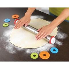 Rouleau à pâtisserie inox 4 épaisseurs