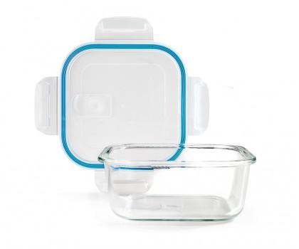 Boîte conservation carrée verre 0,80 litre